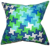 Ciel Geometric Silk Throw Pillow Cover The Pillow Collection