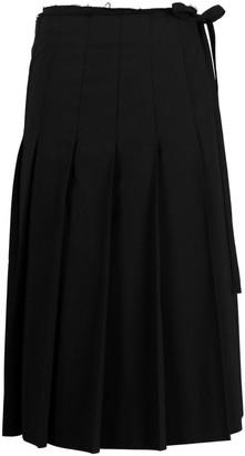 Junya Watanabe Comme Des Garçons Pre Owned Wrap Pleated Midi Skirt
