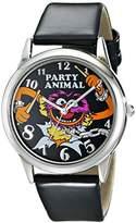 Disney Muppets Women's MU1007 Animal Black Dial Black Strap Watch