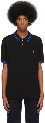 Paul Smith Black and Blue Zebra Polo