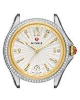 Michele 37mm Belmore Stainless Steel & 18K Watch Head with Diamonds