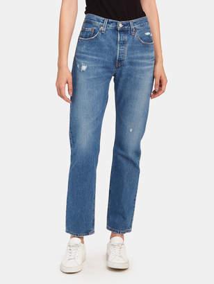 Levi's 501 Straight Leg High Rise Jeans