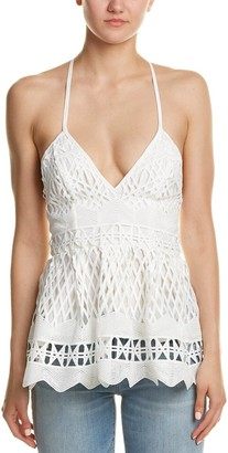 KENDALL + KYLIE Women's Baby Doll Crochet Top