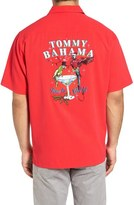 Tommy Bahama Time to Get Lit Embroidered Silk Camp Shirt (Big & Tall)