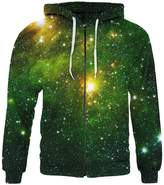 SAYM Unisex 3d Zip Pullover Pocket Galaxy Jacket Sweatshirt Hoodie 42 M