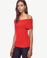 Ann Taylor Petite Off The Shoulder Sweater