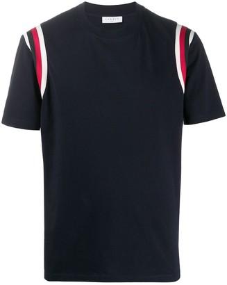 Sandro Paris striped shoulder T-shirt