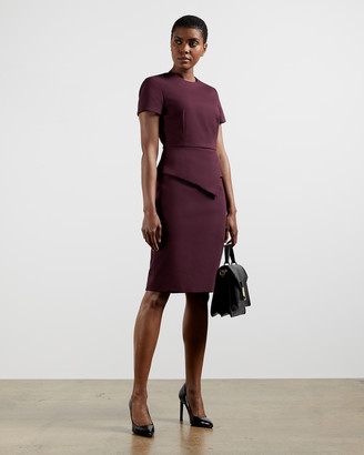 Ted Baker ELYNAH Asymmetric peplum tailored dress
