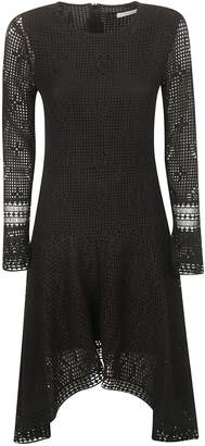 See by Chloe Laced Long-sleeve Back-zipped Dress
