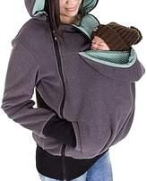 YINUOWEI Women Maternity Fleece Hoodie Kangaroo Sweatshirt Jacket Baby Carrier (M, )