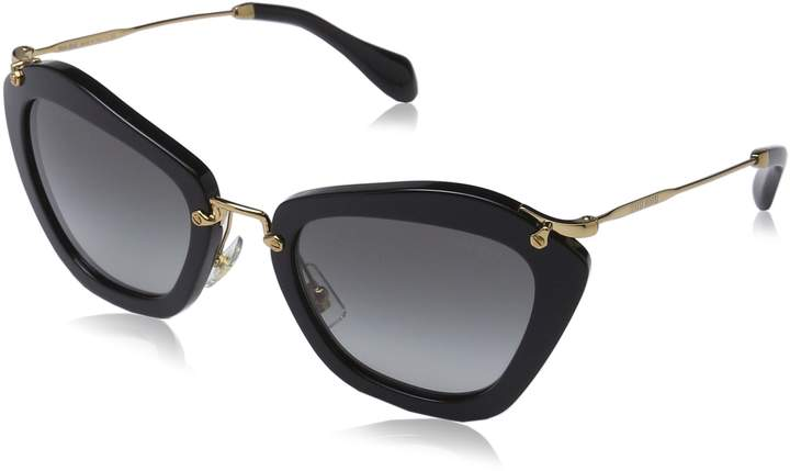Miu Miu Women's Gradient MU10NS-1AB3M1-55 Butterfly Sunglasses