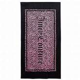 Juicy Couture Pink & Black Cheetah Print Turkish Cotton Velour Beach Towel 34x64