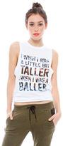Style Stalker I Wish I Was A Little Bit Taller Tee in White