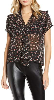 Bishop + Young Floral Print Ruffle Top