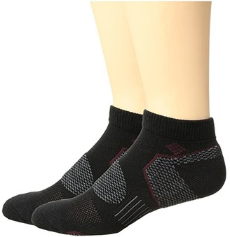 Columbia 2-Pack Low Cut Walking Socks (Black) Men's Low Cut Socks Shoes
