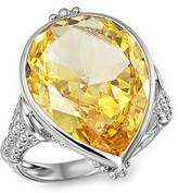 Judith Ripka Bermuda Pear Ring with Canary Crystal