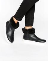 Monki Faux Fur Trim Ankle Boot