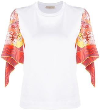 Emilio Pucci silk sleeve Manu Print top