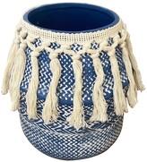 Drew Rose Designs Ceramic Woven Trim Planter