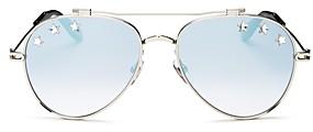 Givenchy Unisex Stars Brow Bar Aviator Sunglasses, 58mm