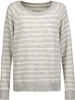 Current/Elliott The Perfect striped cotton-blend sweatshirt
