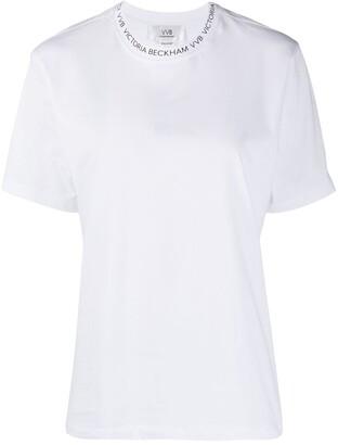 Victoria Victoria Beckham T-Shirt With Logo Print Neckline