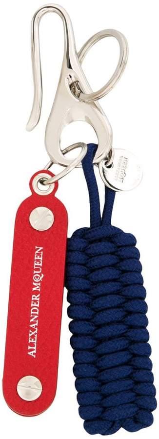 Alexander McQueen woven hook key ring