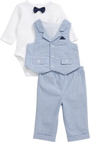 Little Me Club Bodysuit, Pants & Vest Set