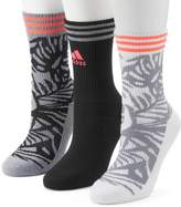 adidas Women's 3-pk. Palm Cushioned Compression Crew Socks