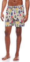 Tailor Vintage Reversible Buoy Print Swim Trunks