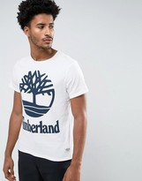 Timberland Big Logo T-Shirt Slim Fit In White