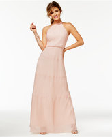 Speechless Juniors' Pleated A-Line Gown