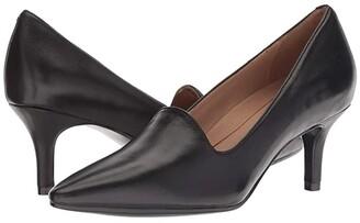 Aerosoles Macrame (Black Leather) Women's 1-2 inch heel Shoes