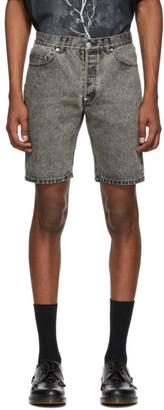 John Lawrence Sullivan Grey Denim Bleached Shorts