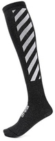 Off-White Striped cotton-blend knee socks
