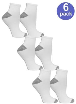 Fruit of the Loom Women's Arch Support Ankle Socks, 6 Pack