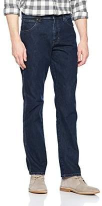 Wrangler Men's Regular Fit STR Darkstone Jeans, Blue, 34W/32L