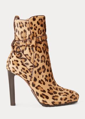 Ralph Lauren Recelle Leopard Calf Boot