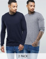 Asos Cotton Crew Neck Sweater 2 Pack -