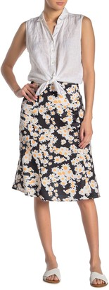 Sugar Lips Sunflower Print Midi Skirt