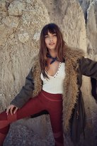 Free People Fur Lined Extreme Moto Parka