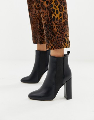 Simmi Shoes Simmi London Heidi black block heeled ankle boots