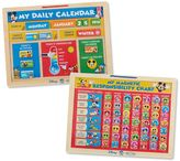 Melissa & Doug Disney's Mickey Mouse Clubhouse Magnetic Calendar & Responsibility Chart Activity Bundle by