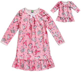 Dollie & Me Girls 4-14 Printed Sleep Gown with Matching Doll Piece