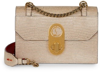 Christian Louboutin Small Elisa Python-Embossed Leather Shoulder Bag