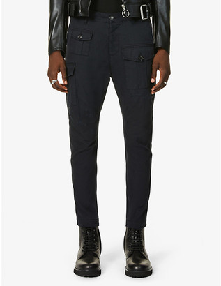 DSQUARED2 Sexy slim-fit cotton-twill cargo trousers