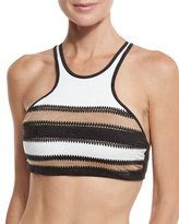 Pilyq Sahara Gypsy Stitched High-Neck Swim Top