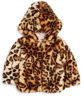 Splendid Girls' Faux-Fur Leopard-Print Jacket - Baby