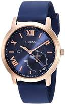 GUESS Men's 'Connect Fitness' Quartz Stainless Steel and Silicone Casual Watch