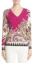 Etro Women's Ikat & Paisley Stretch Silk Sweater